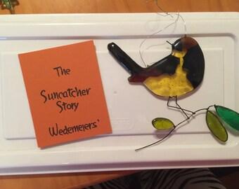 Yellow and dark brown Wedemeiers' Suncatchers antique suncatcher