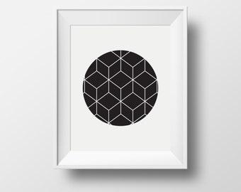 geometric artwork, black geometric print art, home wall print, black and white framed prints, framed ikea prints