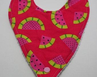 Watermelon Binky Bib