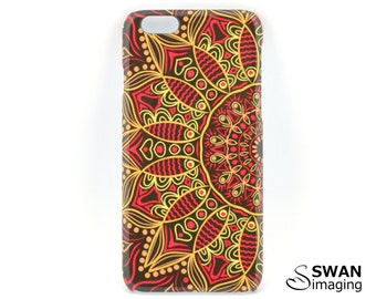 Mandala Phone Case - iPhone X, 8, 8 Plus, SE, 5/5S, 5C, 6/6S, 6/6S Plus, 7, 7 Plus + Samsung S8, S8 Plus, S5, S6, S7, Note 5 - Mandala #3