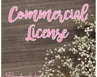 1-100 commercial license for ONE SVG diecut or SVG diecut pack - commercial use - diecut license - license - commercial - small business -