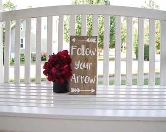 Follow your arrow wood sign.  Arrow sign, arrows, arrow decor, nursery sign, wood arrows, nursery, arrow wood sign, baby shower gift, signs.