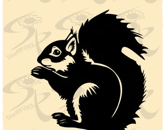 0053_SQUIRREL,SVG,DXF,ai, png, eps, jpg,Silhouette,Vector,Download files, Digital, graphical