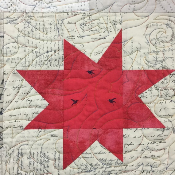low volume and bright star quilt pattern
