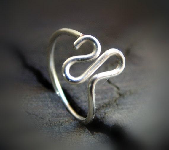 unique nose ring silver nose hoop cartilage hoop earring