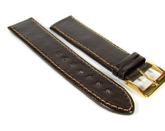 Brown leather watch band personalized Handmade watch strap 12 mm 14 mm watch strap 16 mm 18 mm watch strap 20 mm 22 mm watch strap 24 mm