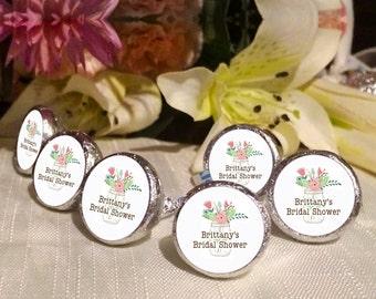 108 Mason Jar Bridal Shower Hershey Kiss® Stickers -  Wedding Kiss Stickers - Candy Labels - Custom Labels - Wedding Favors - Candy Stickers
