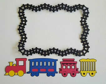 Train with Railroad Track Die Cut Set
