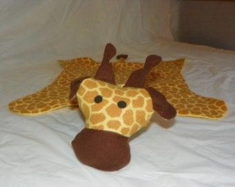 Giraffe Flannel/Fleece Cuddly Baby Blanket