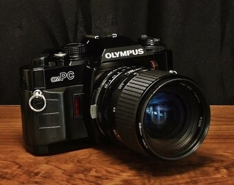 Vintage OLYMPUS OMPC 35mm SLR Film Camera, Tamron-F 35-70mm, f/3.5-4.5 Portrait Zoom Lens, Manual Mode, Circa: 1985, A Classic Look!