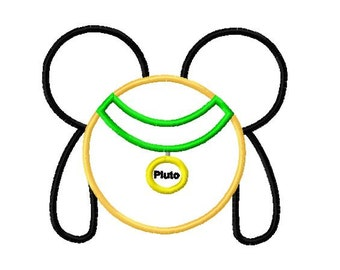 Character Inspired Pluto Embroidery Applique Design