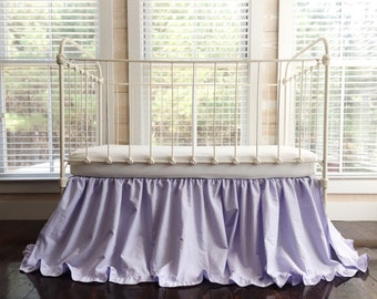 Lavender Crib Skirt - Crib Skirt Lavender - Lavender Crib Bedding - Crib Skirt Girl - Baby Girl Crib Skirt - Ruffled Crib Skirt - Crib Skirt