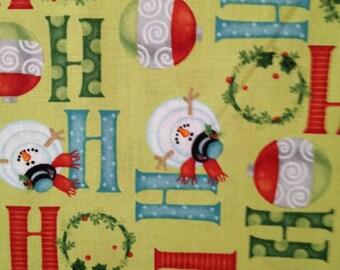 Benartex fabric - Ho Ho Ho Let it Snow