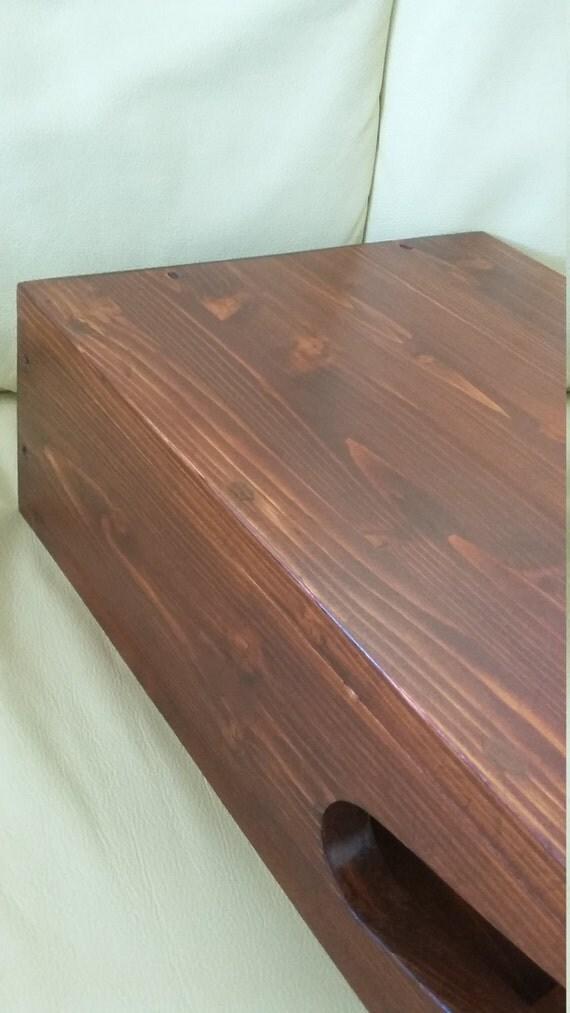 Mensola portabici in legno a parete artigianale noce - Portabici in legno ...