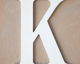 White Wooden Letter