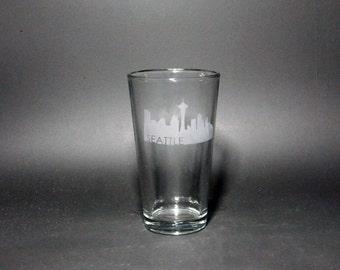 Seattle Skyline pint glass