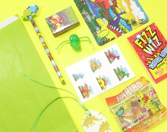 Dinosaur Theme Filled Party Bag – Green