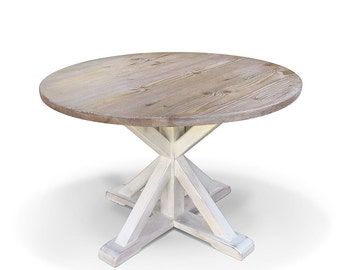 Dining Table, Round Table, Kitchen Table, Reclaimed Wood, Table, Handmade
