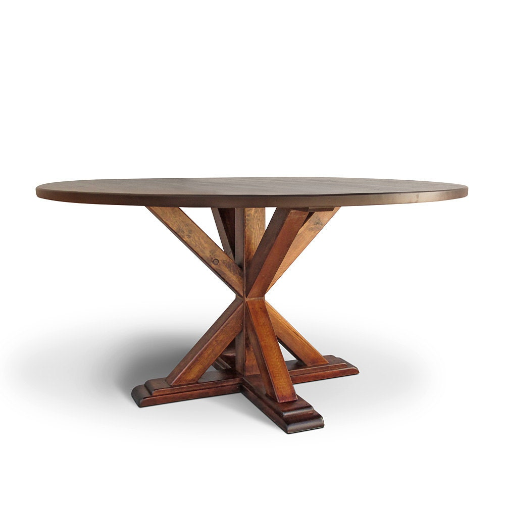 Table solid wood dining table round table reclaimed wood for Wood round dining table for 4