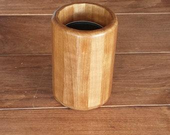 Wood Kitchen Grease Can/Utensil Holder/Brush Holder