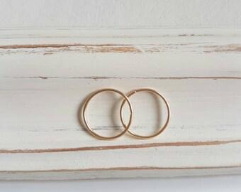 Small hoop earrings, gold hoops, silver hoops, delicate earrings, dainty earrings, circle earrings, 9ct, 9k solid gold earrings