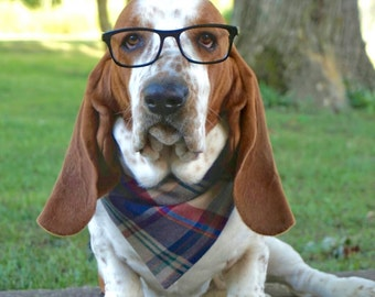Plaid Dog Bandana - Snap Dog Bandana - Dog Bandana Fall - Gifts for Dogs - Gifts for Dog Lovers - Dog Bandanna - Cat Bandana