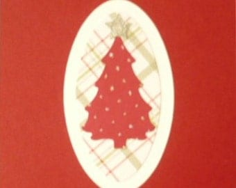 Christmas Tree Card in Cherry Red