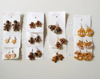 Christmas Gingerbread Earrings