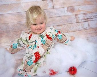 Girls Christmas dress, Toddler Christmas dress, Girls Christmas long sleeves dress,  Christmas dress, Size 2-3T Ready to ship