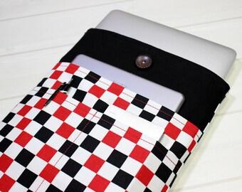 Macbook sleeve 13, chess board pattern, 13 inch laptop case, unique Macbook sleeve, Macbook Pro sleeve, Pro Retina case 13, Christmas gift