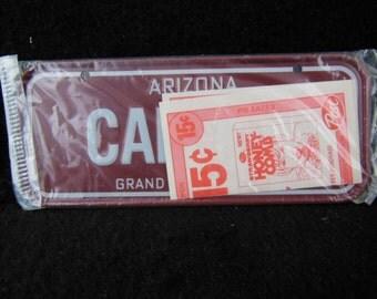 Arizona State Bicycle License Plate - 1982 Bike License Plate -Mini Colorful Metal Signs