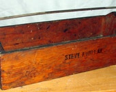 Tool Box Garden Flower Bed Tool Tray From Old Wisconsin Farm Great Design Wood with Metal Handle
