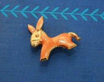 Vintage Donkey Burro Pin Brooch