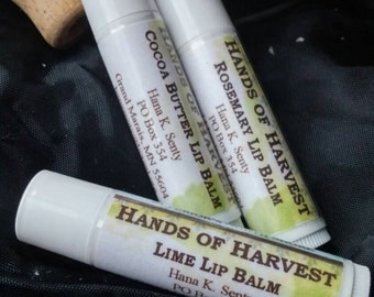 Natural Handmade Lip Balm-Lot of 3