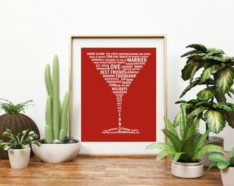 """Personalized """"Martini Glass"""" Wall Art"""