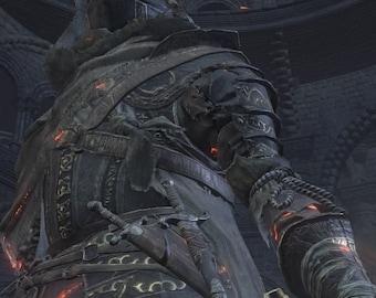 Dark Souls III Fallen Knight Armor detail pattern