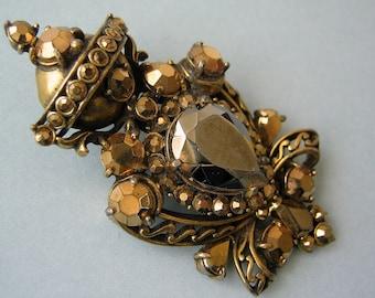 Golden Orb Brooch