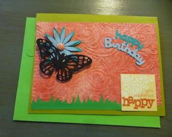Flower Butterfly Cards