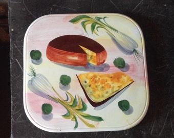 Retro Italian China Cheese Board Kitsch
