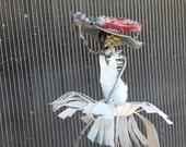 Recycled Scrap Metal, Sculpture Marilyn Monroe Zombie Reclaimed metal, Repurposed Metal, Unique Art Welded, Steel Art, by JBS