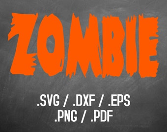 Halloween Zombie SVG Font Design Files For Use With Silhouette Studio Software, Cricut Alphabet Font, Retro SVG Font, Retro SVG Alphabet