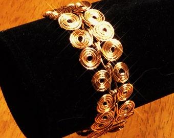 Alluring Copper Coils Bracelet