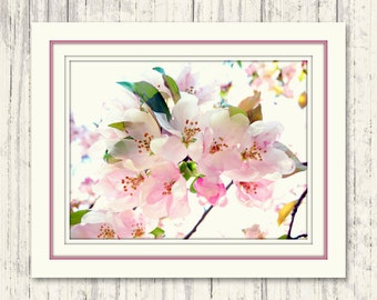 Floral Wall Art - Floral Print - Cherry Blossom Decor - Spring Decor - Spring Gift - Flower Art - Nature Photography - Pink Flower Print