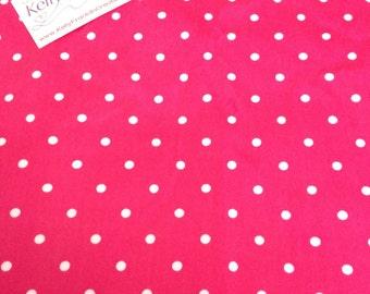 Pink polka dot minky