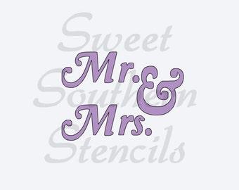 Mr. & Mrs. #3 Stencil