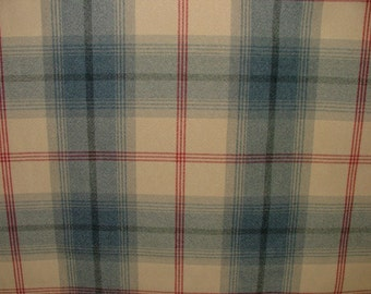 Balmoral Royal Blue Wool Effect Washable Thick Tartan Plaid Upholstery & Curtain Designer Fabric