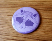 Raccoon of Curiosty Pocket Mirror | Raccoon Mirror | Gift Idea Party Favor | Party Bag Filler | Hand Mirror