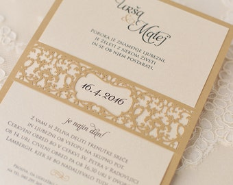 Romantic Wedding Invitations (two colours): Set of 10 pieces!