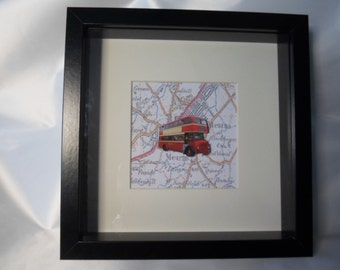 Glasgow 1960s western smt bus deep frame scottish artwork