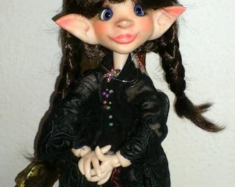 OOAK BJD Art Doll Fairy Elv BabaJaga